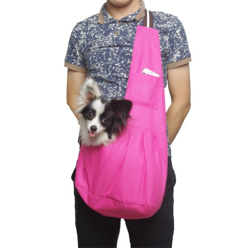 Outward Hound New Pet Sling-style carrier Dog Cat sling Bag -Fashion Rose Medium Size
