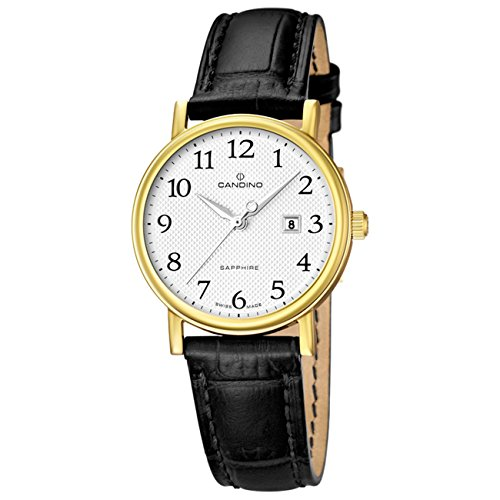 Candino can-22828-DAU - Reloj para mujeres, correa de cuero color negro