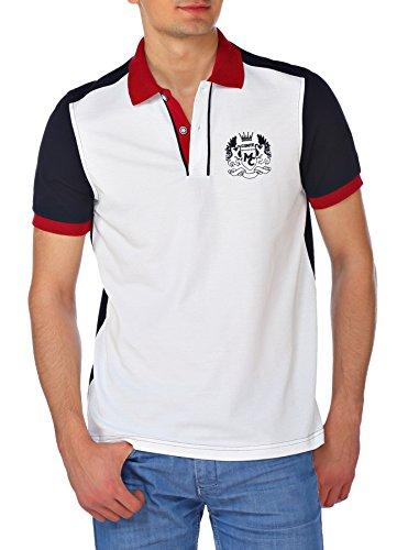 M.Conte Uomo maglietta da polo shirt manica corta Oscar bianco L