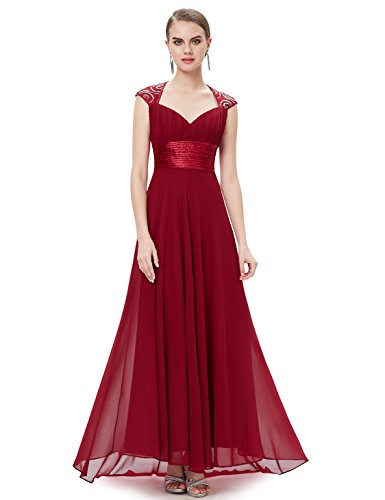 Ever Pretty Womens Empire Waist Formal Long Military Ball Gown 12 US Red