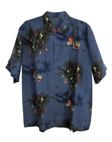Tommy bahama partridge in a palm tree christmas camp shirt for Tommy bahama christmas shirt 2014