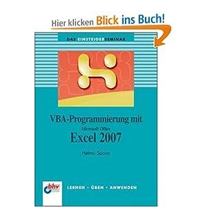 eBook Cover für  VBA Programmierung mit Microsoft Office Excel 2007 Lernen Uuml ben Anwenden