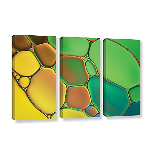 'Stained Glass III' by Cora Niele 3 Piece Graphic Art on Wrapped Canvas Set 0nie074c2436w