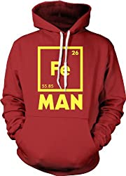 Iron Science Hoodie Funny Chemistry Periodic Table Sweatshirt by Crazy Dog Tshirts