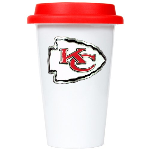 USA Wholesaler - GAP-GMTR2025-7 - Kansas City Chiefs NFL 12oz Double Wall Tumbler with Silicone Lid at Amazon.com