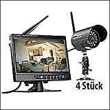 Kabelloses Profi-�berwachungssystem, mit 4 IR-Funk-Kameras (VisorTech)