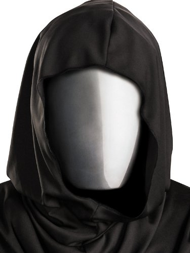 No Face Chrome Mask Adult Accessory