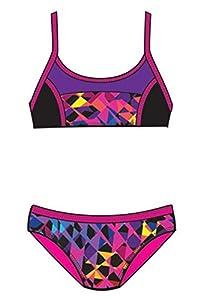 Speedo 7142324 Girls Spectrum Split Camikini 2-Piece, Multicoloured, 10