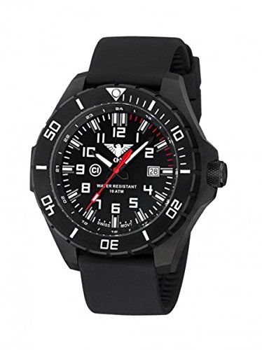 KHS Tactical orologio uomo Landleader Black Steel KHS.LANBS.S