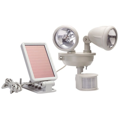 Maxsa Innovations 40218 Motion-Activated Dual Head Led Security Spotlight, White back-51640