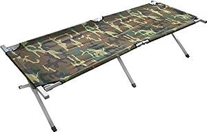 XXXL US Feldliege aus Aluminium Feldbett US Army Campingbett 195 cm Liegefläche Farbe Woodland