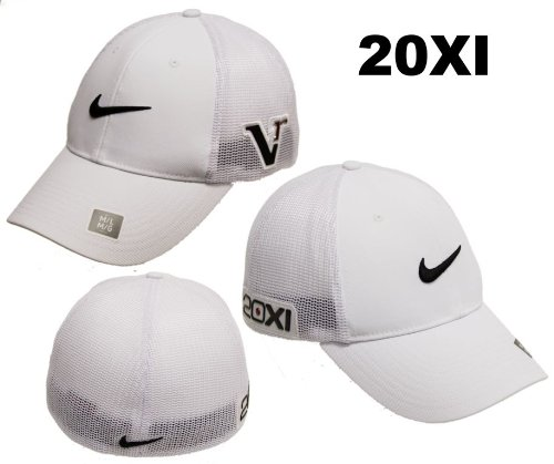 cd079f7122b Nike Golf 2011 Tour Mesh Flex Fitted Cap Hat 20XI Victory Red Logo White    White M L Review