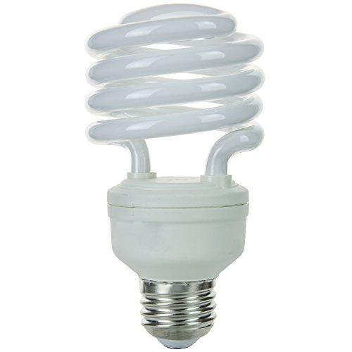 Sunlite SMS23/E/27K/CD1 23-watt T2 Super Mini Spiral CFL Light Bulb, Medium E26 Base, Warm White