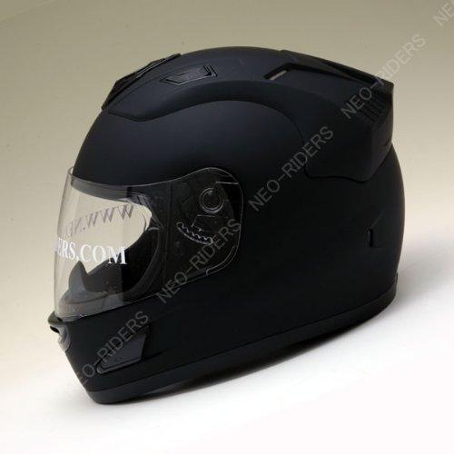 【NR-7】 エアロデザイン フルフェイス ヘルメット マットブラック(つやなし) XLサイズ