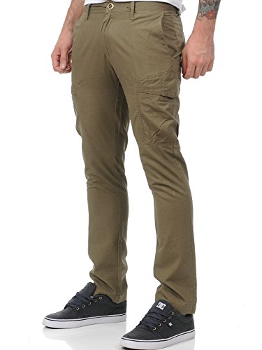 Pantaloni Volcom Frozen Reg Chino Cargo Teak (28 Vita = Eu 42 , Marrone)