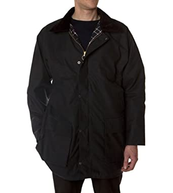Hunter Outdoor Boulton Unisex Wax Jacket Inc Free Tin of Wax Proofing - Medium - Navy