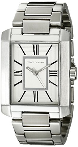 Vince Camuto para mujer reloj infantil de cuarzo con esfera analógica blanca y plateado correa de acero inoxidable de VC-5229SVSV