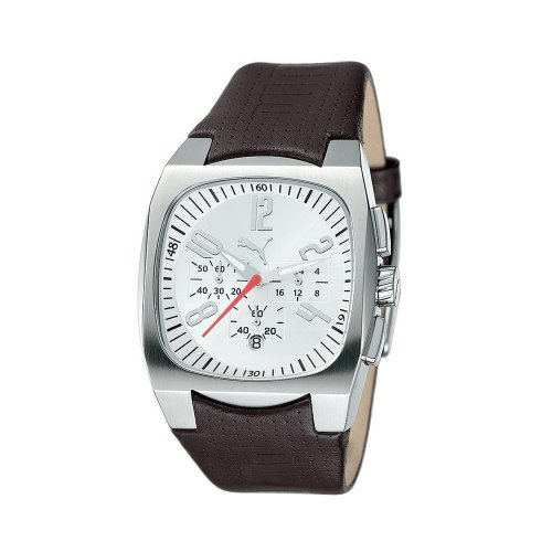 Puma Men's Forcer Chronograph Brown Leather Watch #PU100021002 - Buy Puma Men's Forcer Chronograph Brown Leather Watch #PU100021002 - Purchase Puma Men's Forcer Chronograph Brown Leather Watch #PU100021002 (Puma, Jewelry, Categories, Watches, Men's Watches, Fashion Watches, Leather Banded)