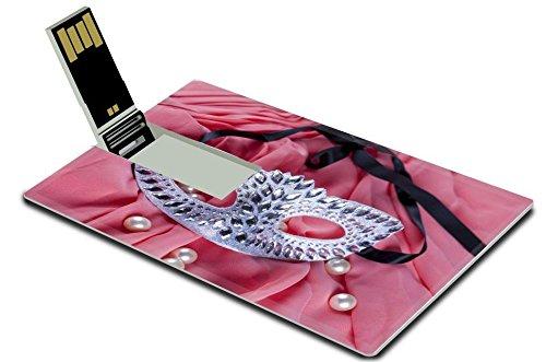 Luxlady 16GB USB Flash Drive 2.0 Memory Stick Credit Card Size Beautiful carnival mask IMAGE 35512710 Beautiful Carnival Glass
