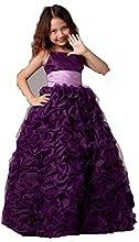 Long Pleats Flower Girl Dresses Pretty Kids Pageant Gowns