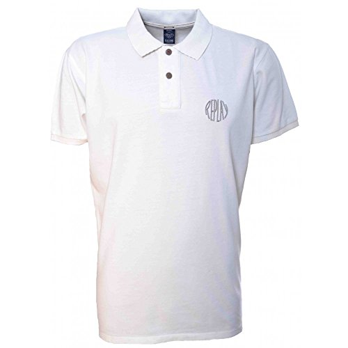 Replay da uomo a maniche corte Polo White XX-Large