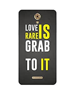 GripIt LOVE IS RARE Printed Case for Coolpad Mega 2.5D