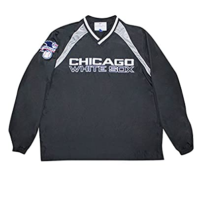 BIG & TALL CHICAGO WHITE SOX MLB Mens Athletic Wind Breaker Jacket with Lining