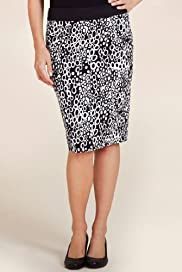 Per Una Pebble Print Pencil Skirt [T62-5590H-S]