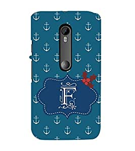 EPICCASE anchor of F Mobile Back Case Cover For Moto G 3rd Gen (Designer Case)