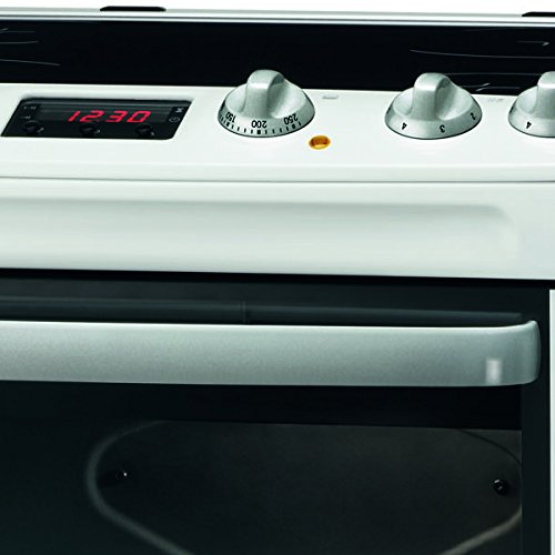 Zanussi ZCV667MWC 600mm Double Electric Cooker Ceramic Hob White