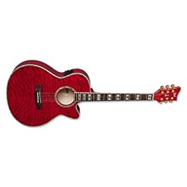 ESP/LTD Xtone Acoustic Electric Guitar Red