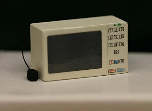 Dollhouse Miniature White Microwave Oven With Cord