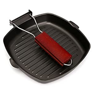 Non-stick Aluminum Square Frying Grill/Griddle Pan 9.5""