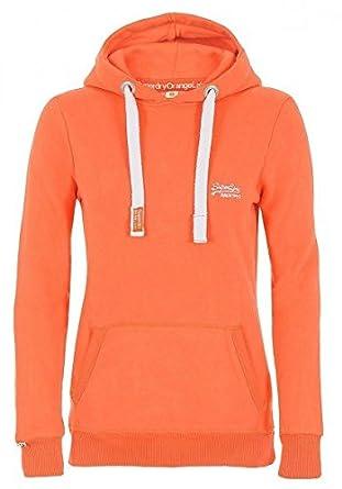 Superdry Orange Label Damen Hoodie Pullover Sweatshirt # 2, Farbe:Orange;Größe:L