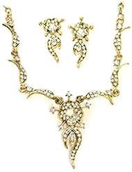 AUSTRIAN DIAMOND NECKLACE SET BY ZAVERI PEARLS-ZPFK1109