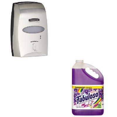 KITCPM04307EAKIM11329 - Value Kit - KIMBERLY CLARK Electronic Cassette Skin Care Dispenser (KIM11329) and Fabuloso All-Purpose Cleaner (CPM04307EA) kitbwkk5000rcp750411 value kit rubbermaid autofoam touch free skin care system rcp750411 and boardwalk premium half fold toilet seat covers bwkk5000