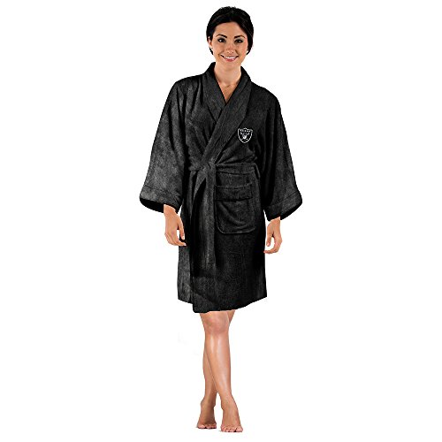Women's Oakland Raiders Concepts Sport Black Ovation Robe