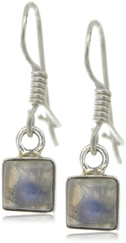 Nova Silver Bemine Small Square Moonstone Earrings