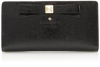 (新品)kate spade凯特斯培2013新款100%真皮钱包 new york Beacon黑7折后$89.6