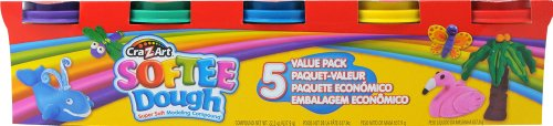 Cra-Z-Art Softee Dough, Bright Colors, 5 Pack (13511) - 1