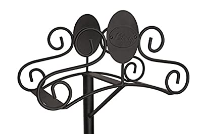 Liberty Garden Products 645 Ornamental 125-Foot Capacity Two Point Steel Garden Hose Stand Black