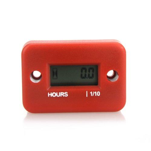 dodocool Digitale Hour Meter Spurweite Zeitzähler mit LCD Anzeige für Benzin Motor Racing Motorrad ATV Mähwerk Snowmobile 0.1/99999Hrs