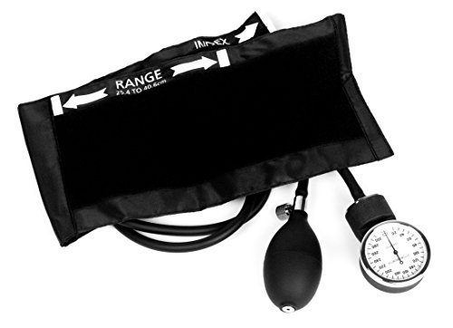 Dixie Ems Deluxe Aneroid Sphygmomanometer Blood Pressure Cuff, Black by Dixie Ems