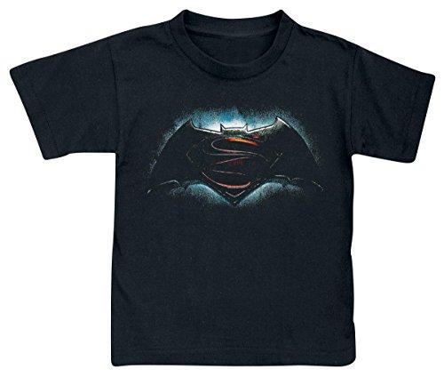 Batman v Superman Logo Maglia bimbo/a nero 152