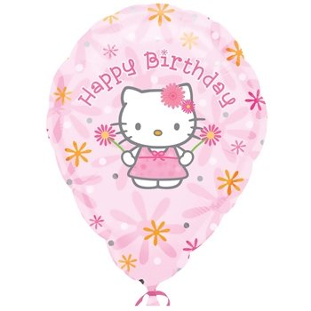 "Anagram International Hello Kitty Birthday Personalize Package Balloon, 18"", Multicolor"