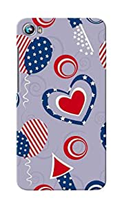 CimaCase American Hearts Designer 3D Printed Case Cover For Micromax Canvas Fire 4 A107