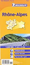 Michelin Map Rhones-Alpes, France (Michelin Maps)