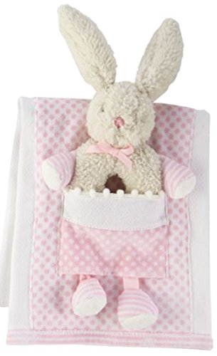 Mud Pie Bunny Burp Cloth with Rattle