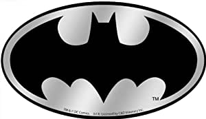Licenses Products Licenses Products DC Comics Batman Logo Chrome Sticker
