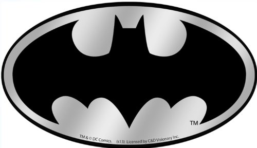 Licenses Products DC Comics Batman Logo Chrome Sticker